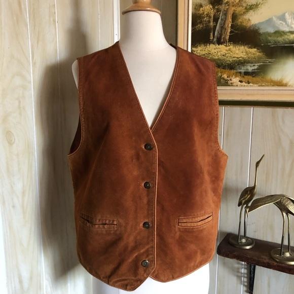 Vintage Suede Women's Waistcoat Vest